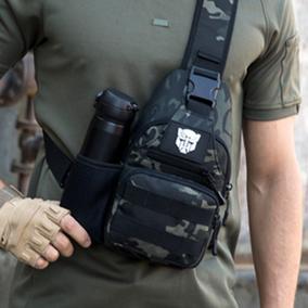 胸包男士单肩斜挎包户外男弹弓包