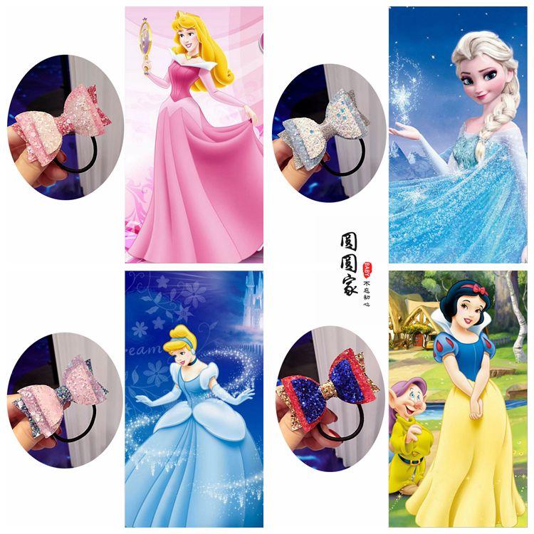 热销119件正品保证韩版冰雪女王公主亮片蝴蝶结发夹