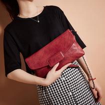 斜挎真皮链条包多功能时尚手拿包跨境新款头层牛皮单肩包