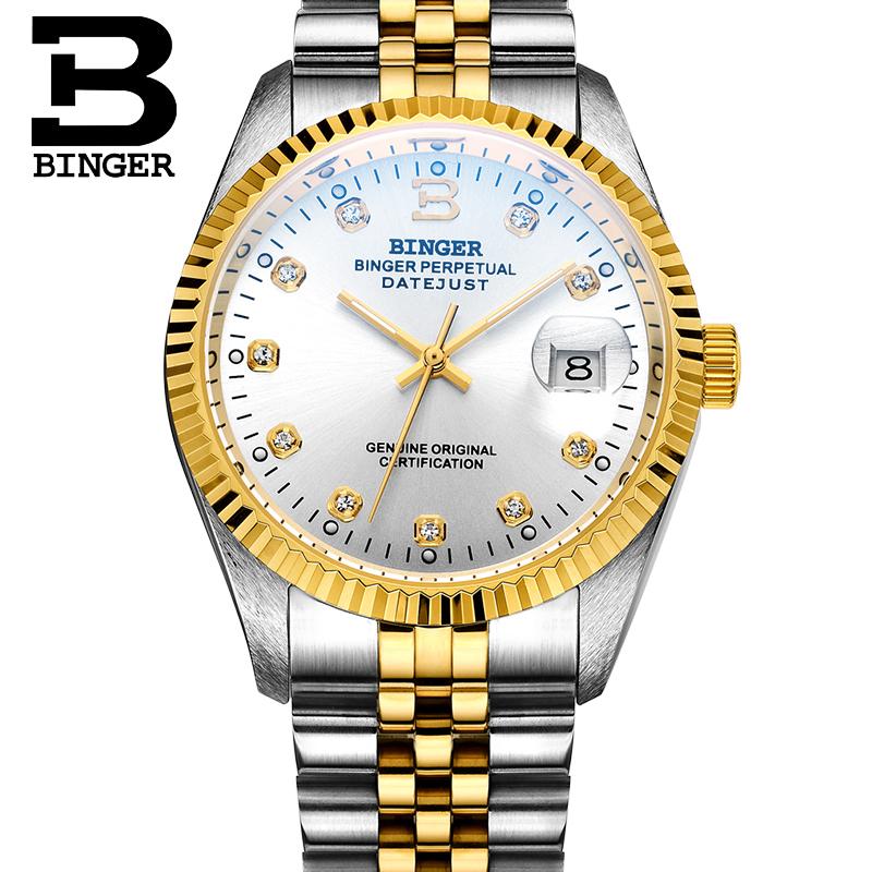 宾格BINGER手表全自动机械表防水背透镂空商务休闲男士手表朗度