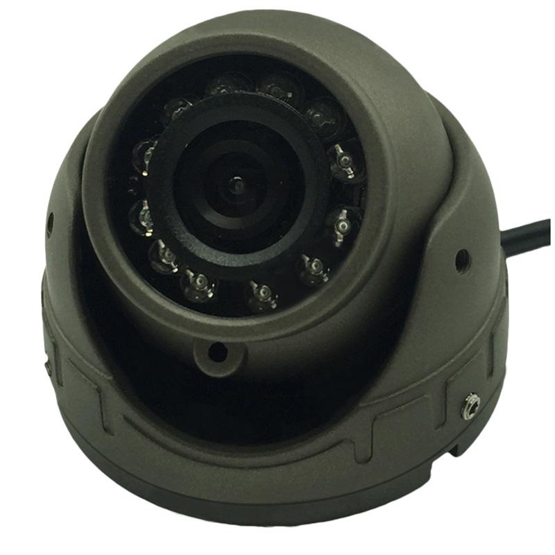 车载视频24V高清夜视半球金属小海螺航空摄像头公交监控摄像探头