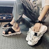 2021夏季新款沙滩拖鞋室外一字拖防滑防臭韩版个性男士凉鞋外穿潮
