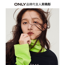 Only Guan Xiaotong same 2019 winter new loose half high collar long sleeve T-shirt for women 11932516