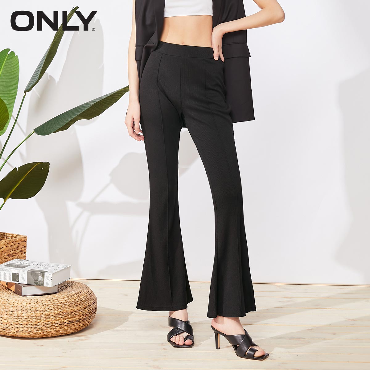 Only2020 summer new slim fit commuter casual pants female 120374001