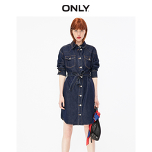 ONLY2019 Autumn New Long Sleeve Jean Dress with Retro Ming Line 119342508