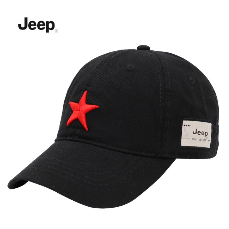 JEEP\ジープ五角星四季の定番の男女カジュアル野球帽屋外日よけ純綿のハンチング帽