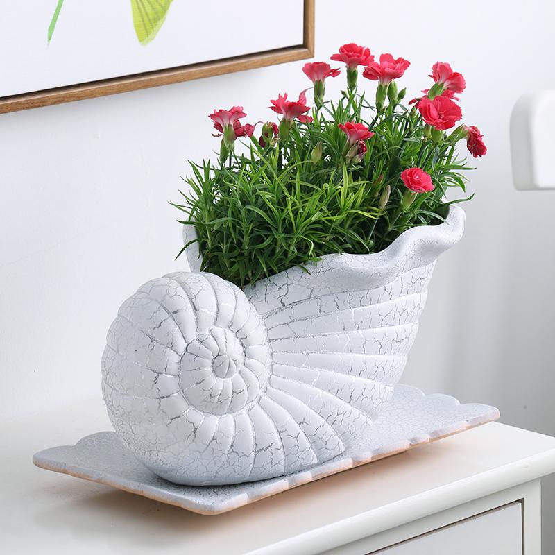 室内创意特大号绿萝长方形盆景盆栽家用陶瓷花盆清仓带托盘多肉盆