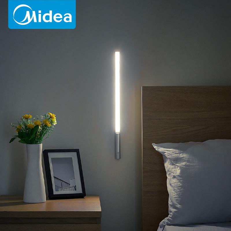 美的LED卧室床头壁灯装饰楼梯过道北欧简约户外阅读护眼书桌台灯