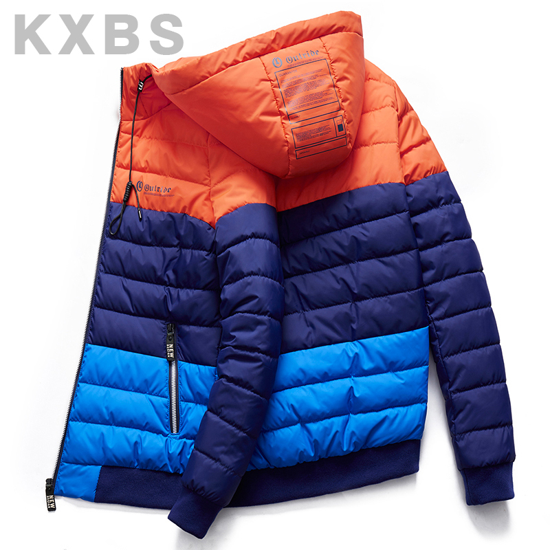 Winter coat mens cotton padded jacket 2019 new student down cotton padded jacket Korean Fashion Sports Youth contrast cotton padded jacket
