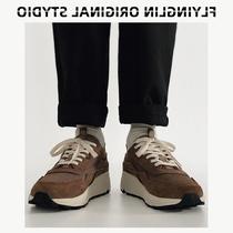 林起飞FLYINGLIN80S复古网红爆款男鞋跑鞋运动透厚底老爹鞋