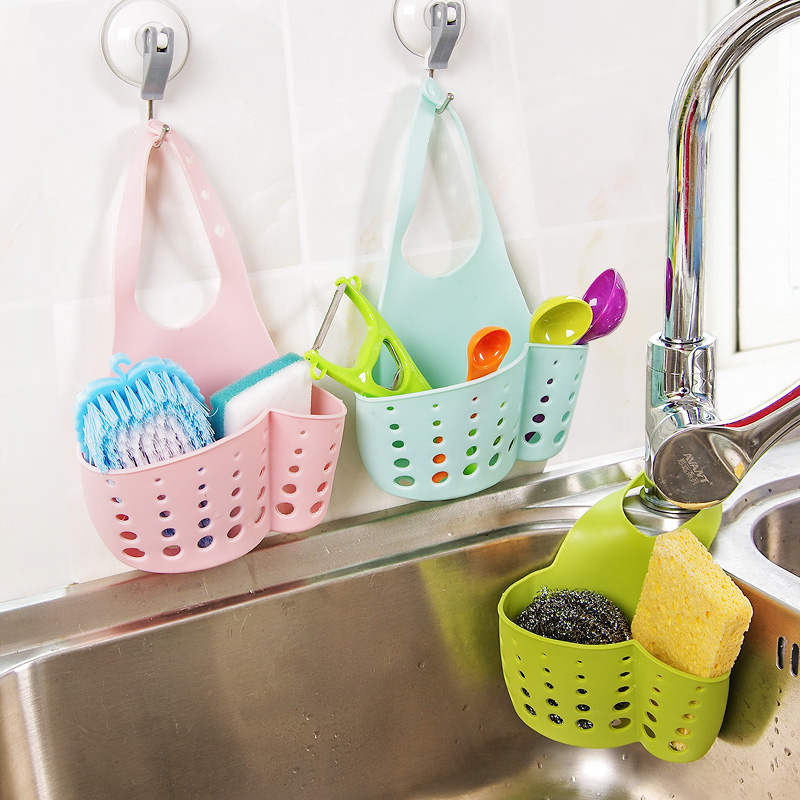 水槽塑料瀝水籃收納掛籃廚房小用品廚具置物架收納架瀝水架