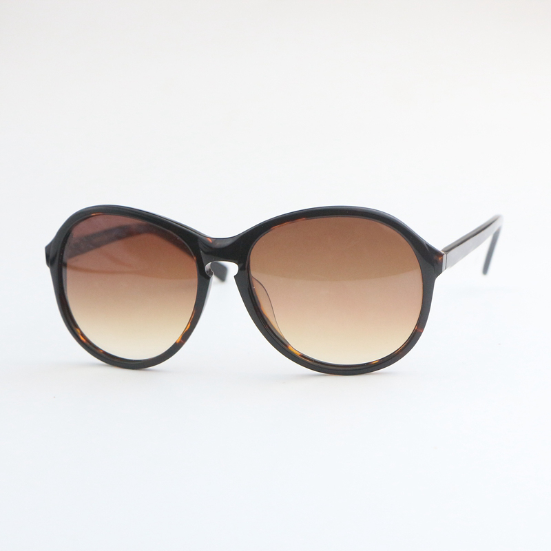 Classic plate round leopard Brown Gradient Tan 5217 womens sunglasses Fashion mens Sunglasses