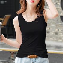 背心女运动内搭外穿打底黑色无袖t恤吊带上衣女装纯棉2021年夏季
