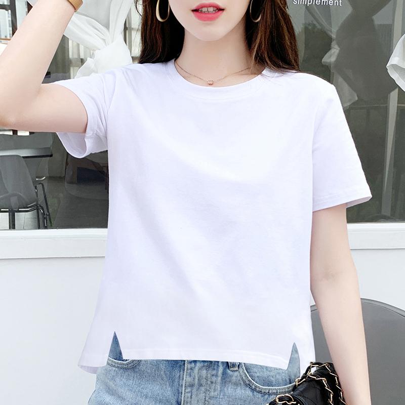 宽松短袖夏季设计感小衫白色潮t恤