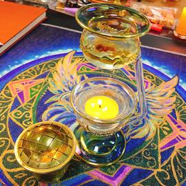 埃及特色绿龙香薰灯 蜡烛 香精瓶 玻璃装饰旅 蜡烛