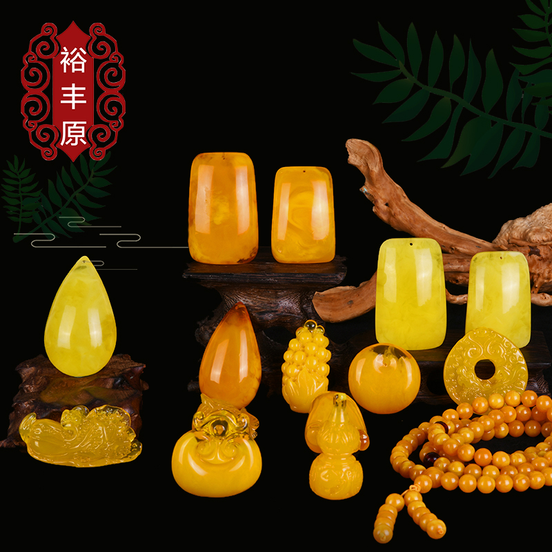 Yufeng original jewelry honey wax natural amber accessories hand string Buddha beads jewelry pendant sweater Necklace Pendant for men and women