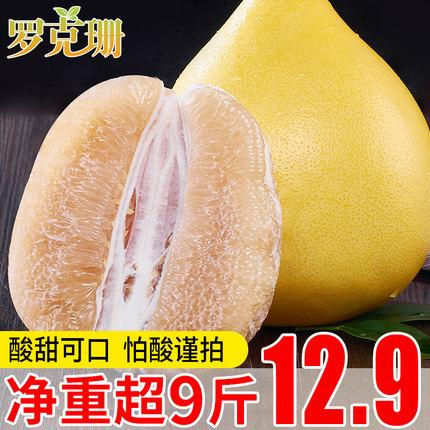 四川农家柚子 新鲜当季水果现摘现发白肉白心蜜柚包邮毛重10斤