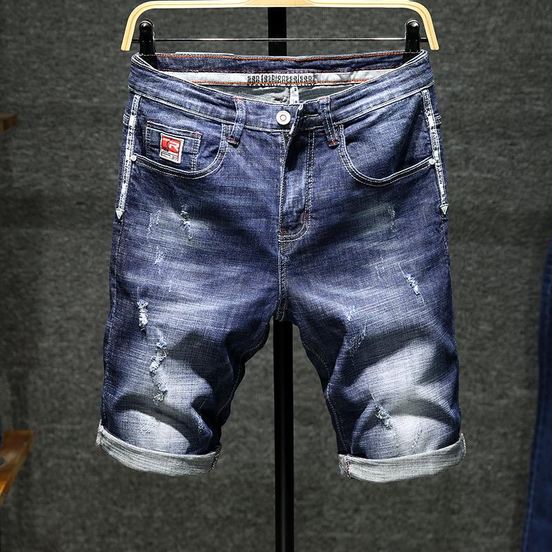 夏季弹力牛仔短裤男修身休闲裤子不包邮