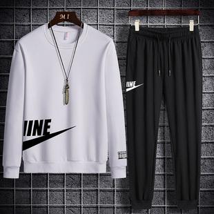 2020运动套装 男宽松舒适长袖 春秋季 新款 T恤跑步休闲运动服两件套