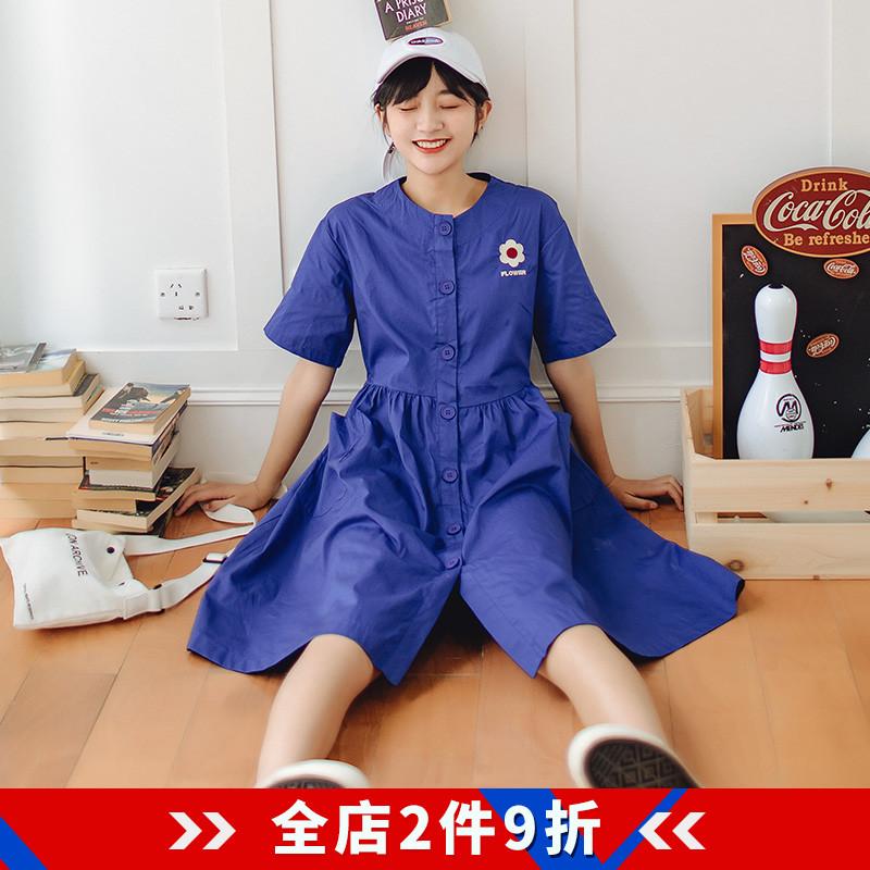 限时2件3折连衣裙2019新款夏egg裙法式过膝收腰显瘦气质裙子仙女超仙森系
