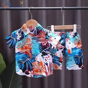.海滩男短袖2021年新款夏季花衬衫