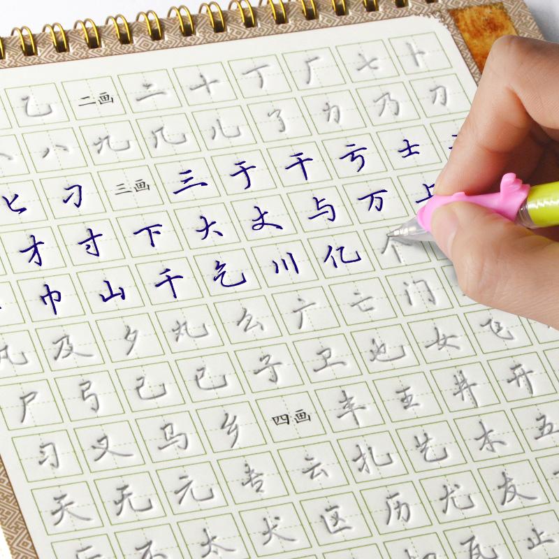 高考速成清新书法结构儿童行楷书手写字体字帖瘦金体练字帖漂亮大