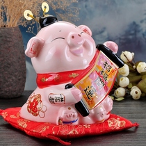 Jinshi workshop Golden Pig decoration Ceramic piggy Bank Home Office wine cabinet decorations New Year gift Zodiac Pig