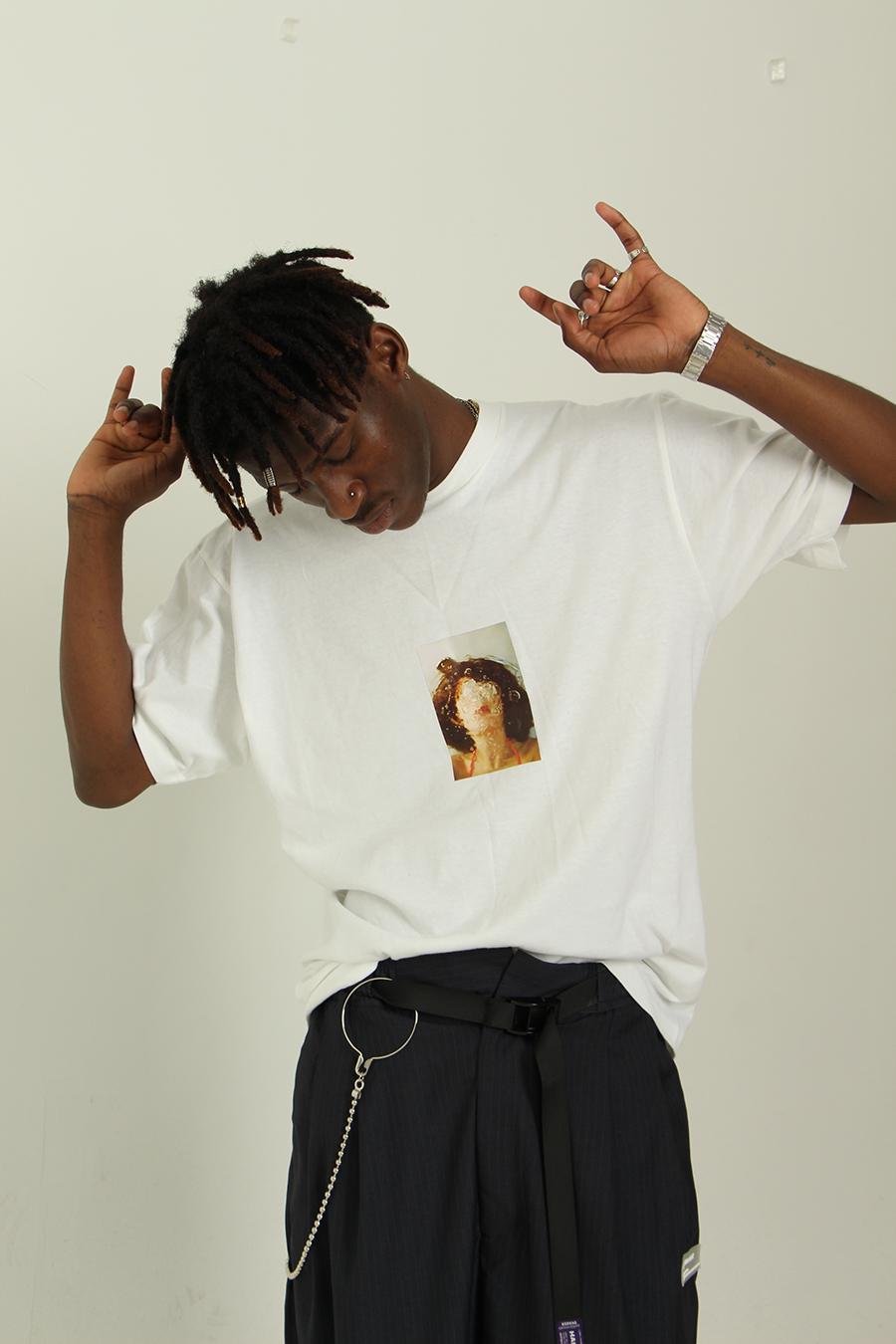 VOTF HARSHCRUEL数码印花泡泡图像40s双纱纯棉250g重磅短袖T恤tee