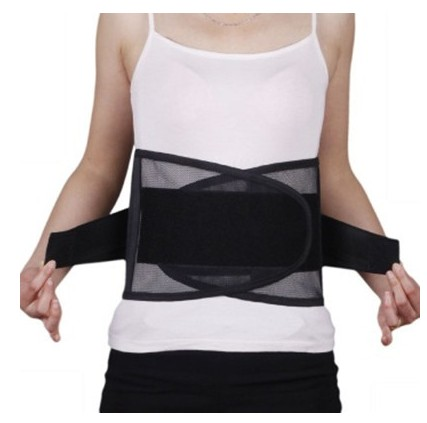 Black mesh full elastic breathable waist protection special health waist belt in summer with four steel plate fixed belt protector