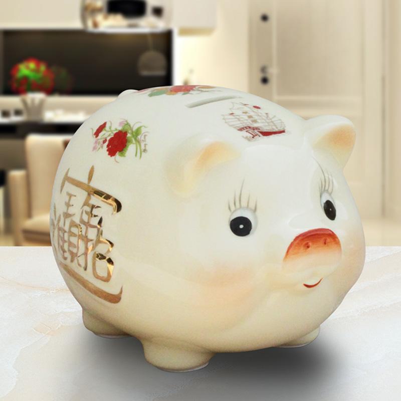 11月29日最新优惠陶瓷十二生肖卡通儿童礼物猪储蓄罐