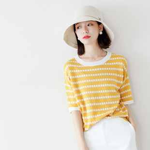 兼具活力减龄和优雅气质,美的很特别~镂空破洞 天丝套头针织衫