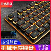游戏机械键盘电竞吃鸡RGB猎魂光蛛精英版光轴Huntsman雷蛇Razer