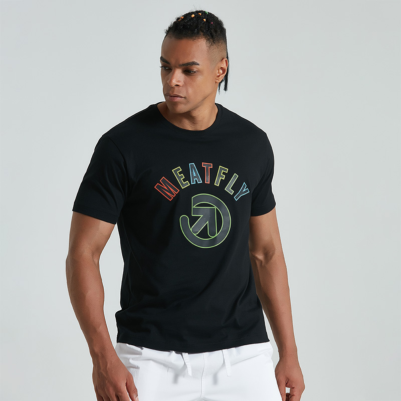 Meatfly sports T-shirt fashionable brand printing hot sale genuine summer cotton leisure sports T-shirt