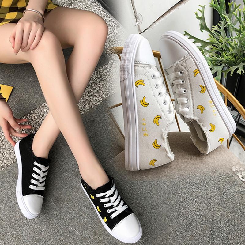 帆布鞋女平底运动板鞋ins同款原宿百搭小白鞋学生韩版ulzzang布鞋