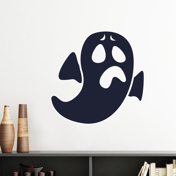 Ghost wall stickers with distressed expressions on Halloween school blackboard newspaper classroom dormitories REMOVABLE STICKERS