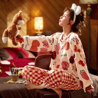 珊瑚绒睡衣女冬季加厚加绒2021年新款法兰绒家居服可外穿春秋冬款