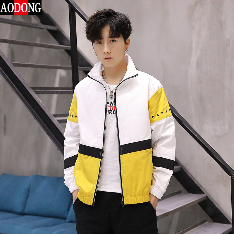 Jacket mens baseball uniform student trend handsome spring and autumn Korean loose Leisure Sports Youth sunscreen jacket