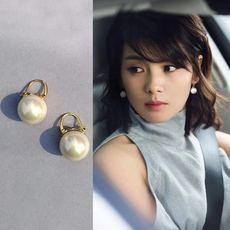 纯银网红珍珠耳钉