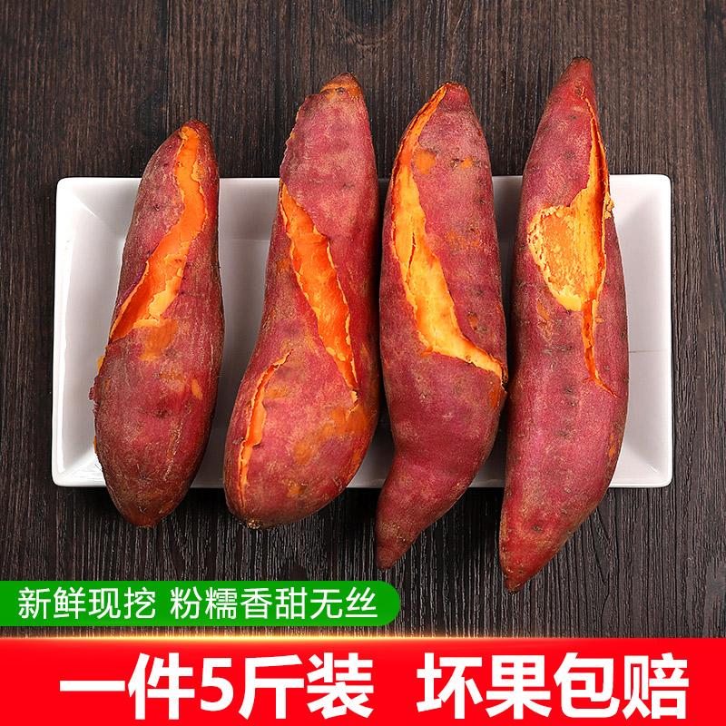 小香薯六鳌红蜜署地瓜新鲜蔬菜沙地小番薯红心红薯甜软糯香甜现