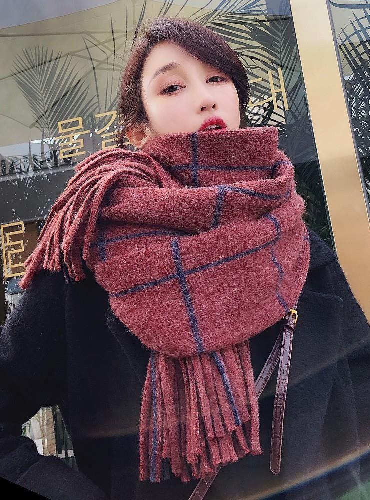 条纹灰色紫色挡风围巾套女秋冬季可爱百搭韩版潮男朋友早秋结婚