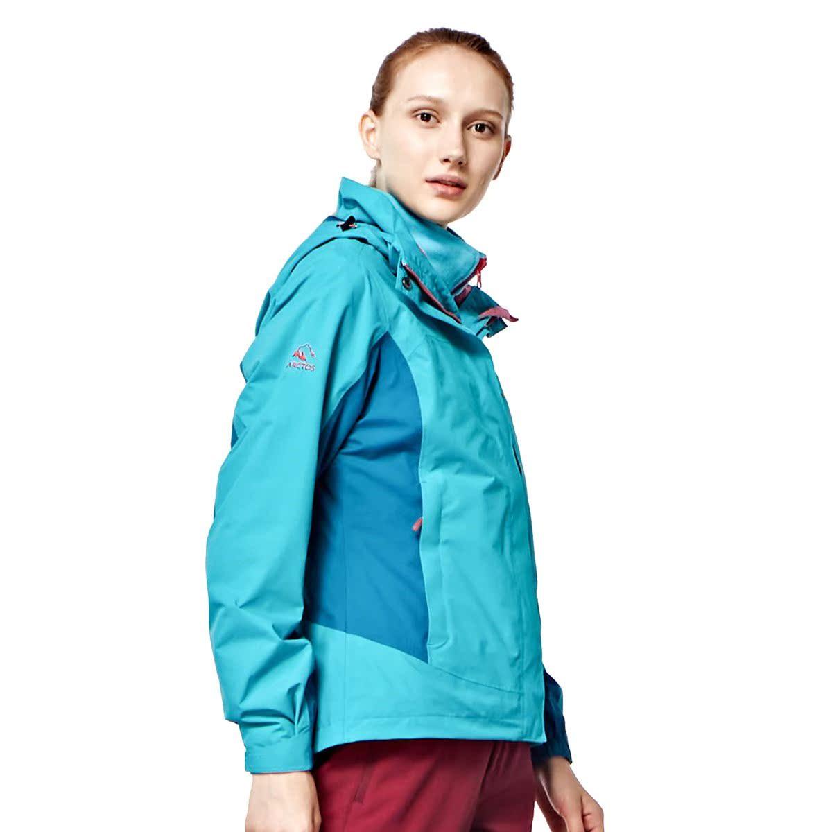 三合一防水保暖女士冲锋衣登山服特价撤柜款户外服装7.77
