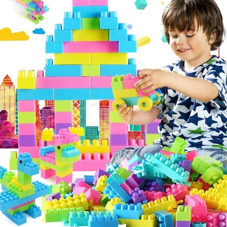 盖楼游戏塑料建筑拼装积木益智玩具原木堆积叠叠高早教青少年