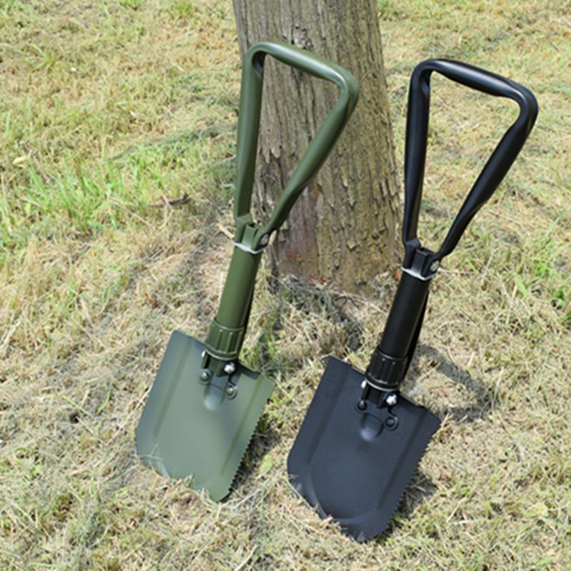 户外便携工兵铲 野外多用途折叠雪铲 露营铁锹多功能钢锹钓鱼铲子