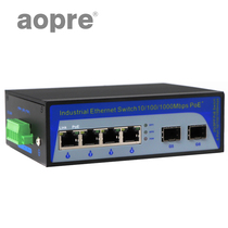Aopre (Opel) Gigabit 2 optical 4 Electric industrial-grade fiber optic transceiver DIN rail type industrial switch