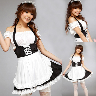 Anime maids costume maids dress maids uniform Cosplay night club DS performance Costume