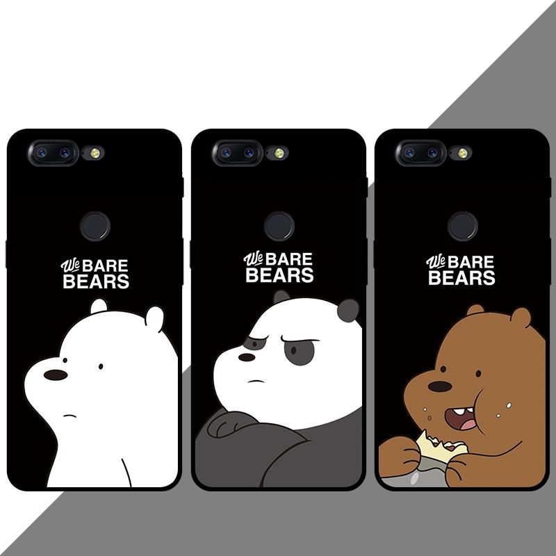 一加5t/五/3/3t/6手机壳欧美卡通可爱三只熊咱们裸熊三贱客软硅胶