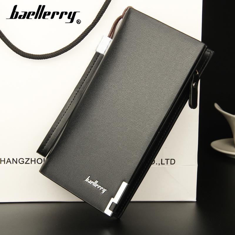 【baellerry】新款时尚长款钱包男士多功能拉链手拿包欧美男卡包