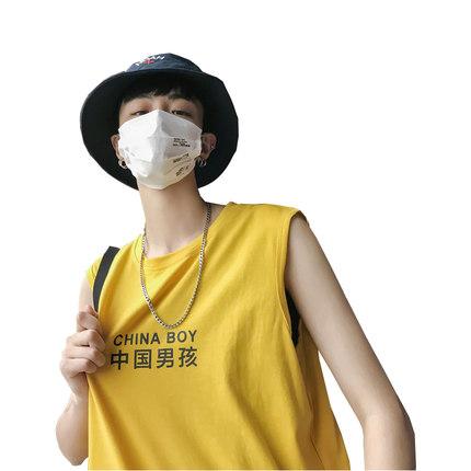 港仔潮牌学生无袖韩版潮流帅气t恤