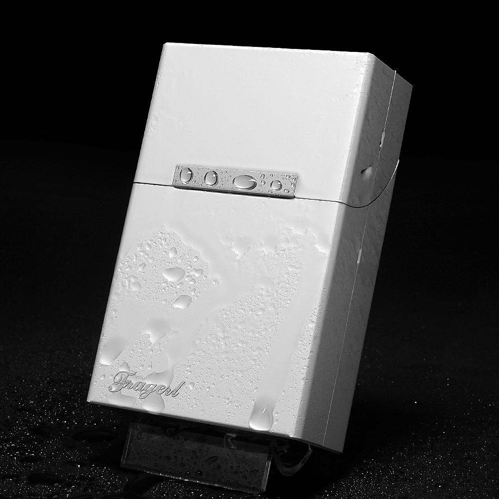 限8000张券铝合金烟盒男士刻字防压防潮磁扣