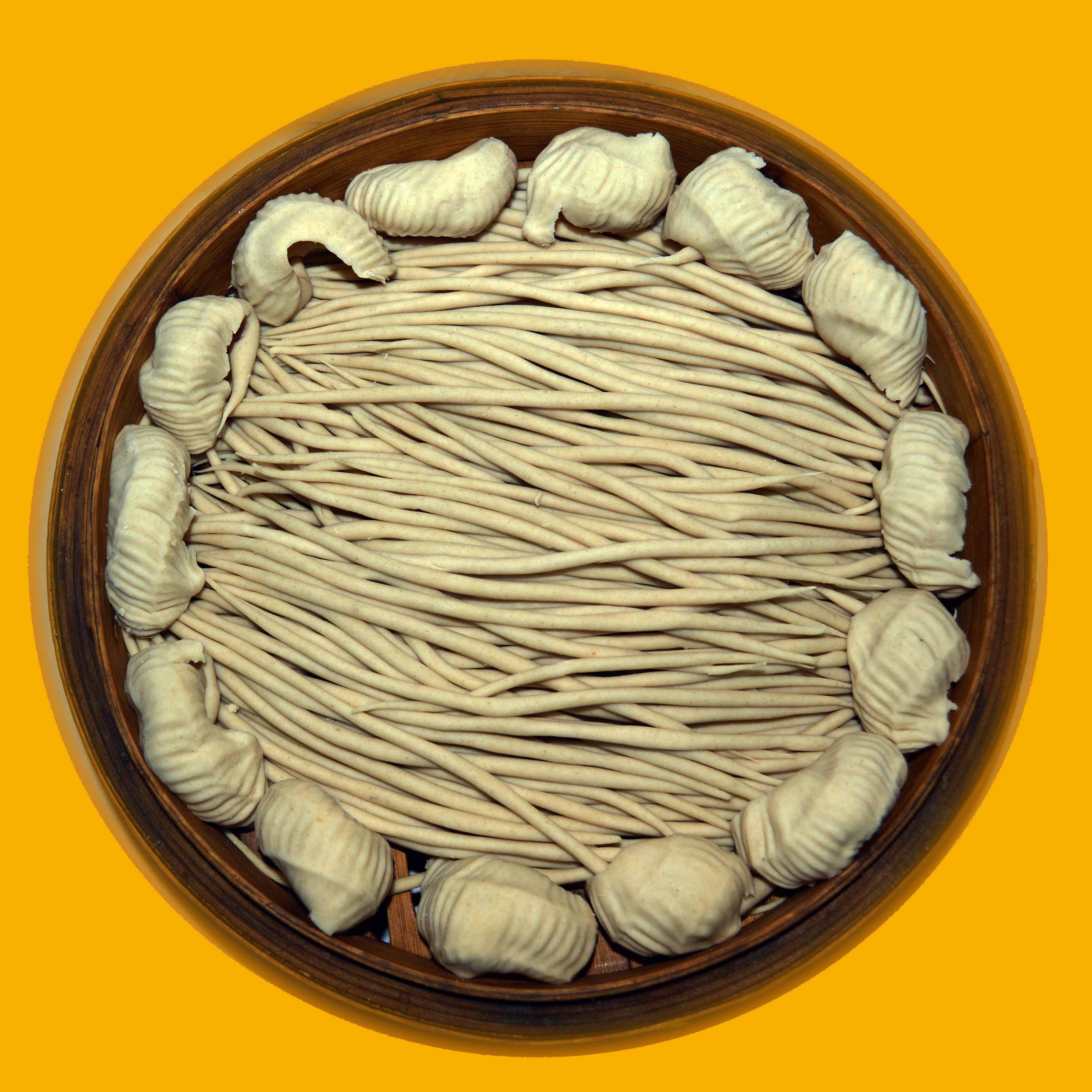 Shanxi farmhouse specialty Lanxian pure naked oats flour coarse grain stone flour 5 kg package